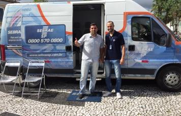 Nosso Presidente Rodrigo Malavazi Aguiar e o Consultor da Sebrae Thiago de Oliveira Rodrigues